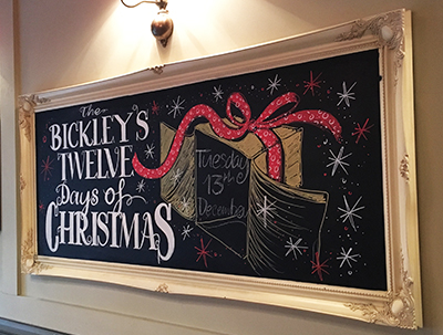 Christmas Blackboard Design