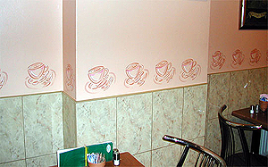Cafe Wall Design