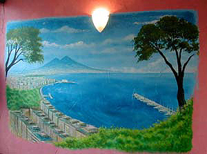 Bay of Naples Mural for Italian Restaurant,Kensington