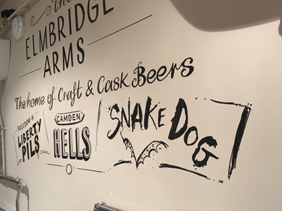 Craft Beers Wall Design