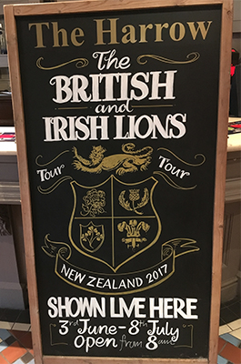 Lions Tour Rugby Board Design