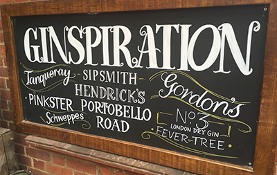 Gin Blackboard Design