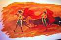 Bull Fighting Wall Painting