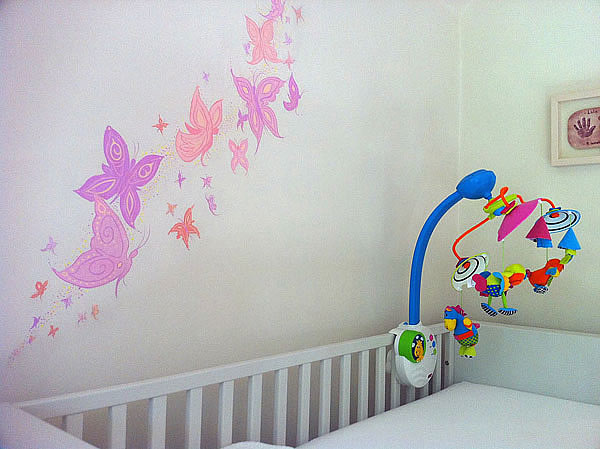 Child's Butterfly Mural, Potters Bar