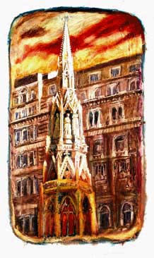 Paintings & Prints of London Landmarks:Charing Cross