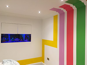 Striped Wall Painting