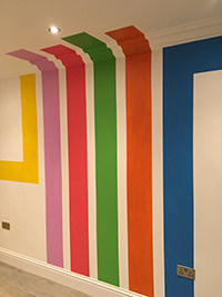 Colour Stripes Wall Painting