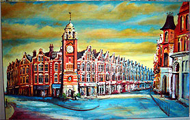 Painting of Crouch End Broadway