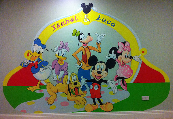 Disney Childrens Mural, Totteridge, London