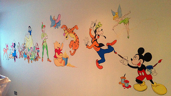 Childrens murals london childrens murals london mural for Disney wall mural uk