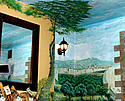 Wall & Ceiling painting of Neopolitan village (19th Century theme)