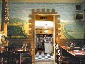 Italian Restaurant Mural Doorway, London
