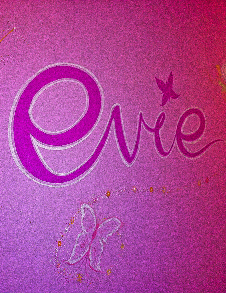Girl's Name Wall Painting