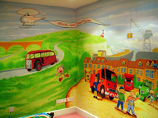 childrens murals london wall paintings for childrens