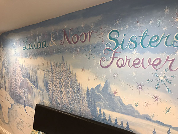 Frozen Theme Mural Wall Painting
