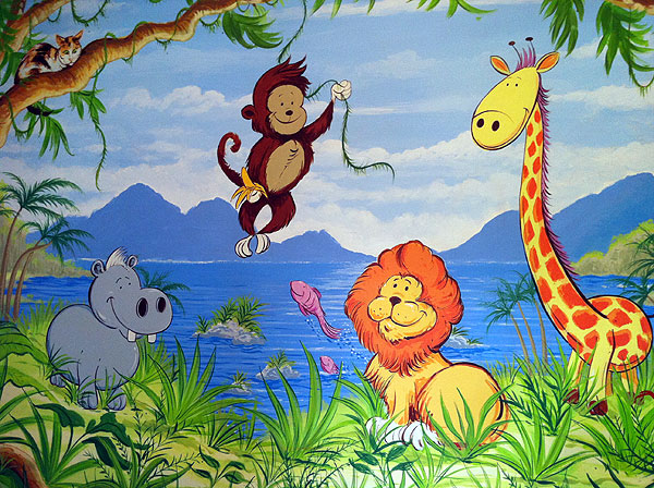 Childrens Murals London Wall Paintings For Childrens Bedrooms And