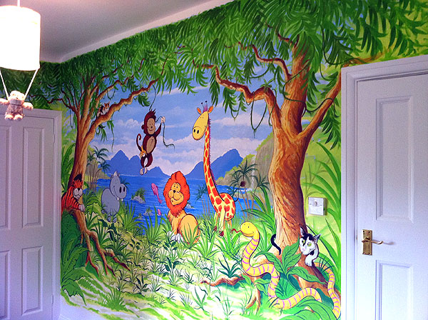 Childrens murals london wall paintings for childrens for Children s mural artist