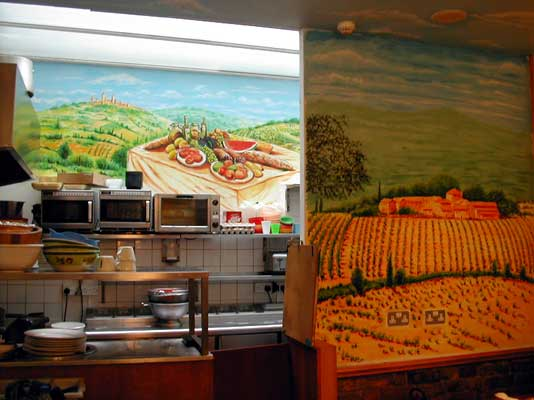 Mural Wall Painting, Mediterranean Theme, London