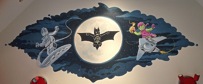 Childrens murals london childrens murals london mural for Batman wall mural uk