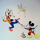 Mickey Mouse and Goofy Mural