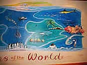 Mural for Oceans restaurant High Barnet