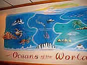 Wall painting of Oceans of the world