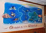 Mural of Oceans of the World, Oceans Restaurant, Barnet