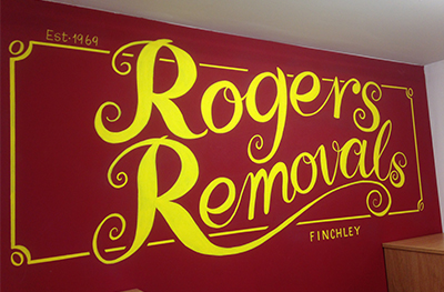 Signwriting for Rogers Removals Company Finchley