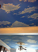 Sky Ceiling Painting, London