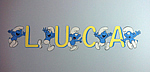 Smurf Children's Name Mural