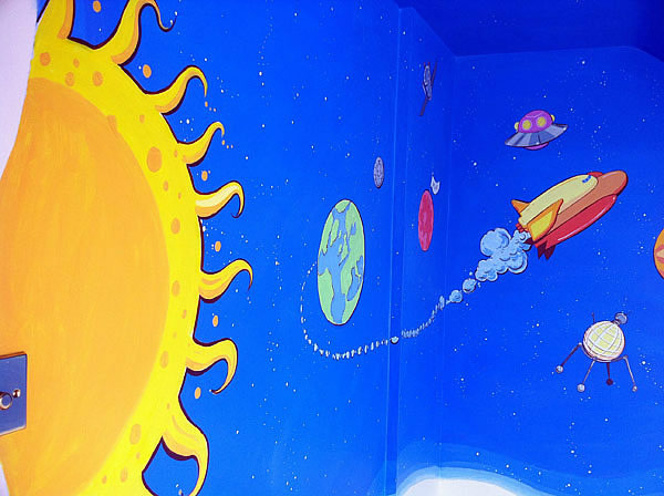 Childrens Space Theme Mural, Mill Hill,London