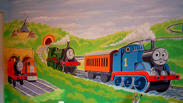 Lovely Thomas The Tank Engine And Friends Mural Part 19
