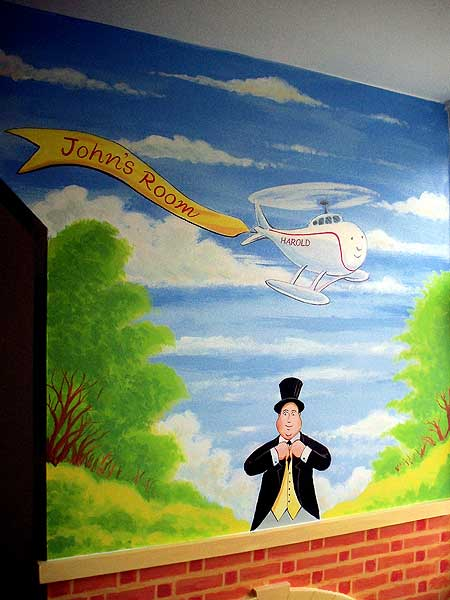 Harold The Helicopter U0026 The Fat Controller Mural Part 82