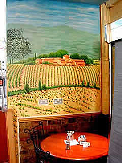 Resaurant Mural, Mediterranean Theme Mural Wall Painting, Chelsea, London