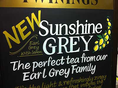 Chalkboard for Twinnings Tea Shop