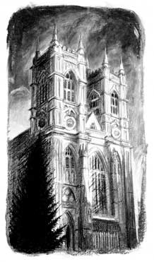 westminster abbey london print