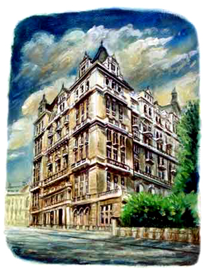 Painting of Whitehall Court West Side