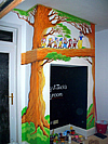 Snow White Theme Mural Fire Place